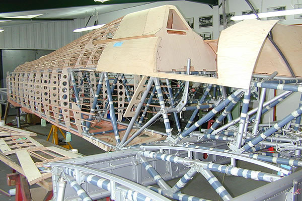 New wood structure over Hawker tubular airframe