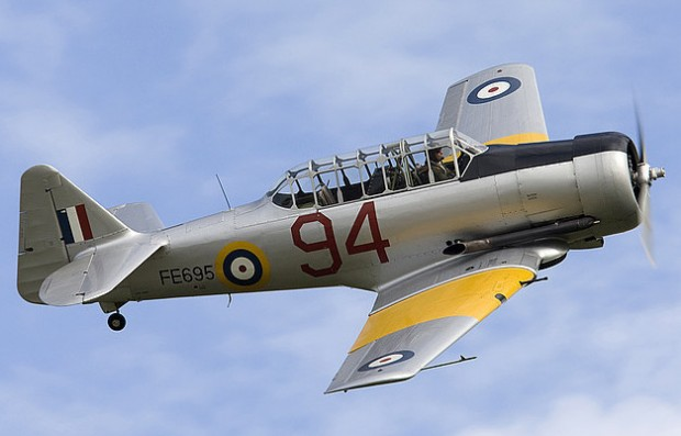 The Hurricane Heritage Harvard will be returned to its original wartime paint scheme